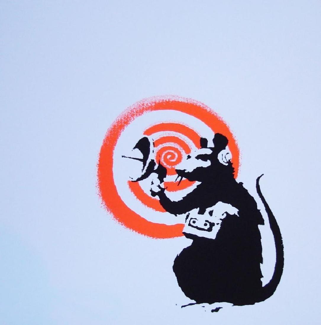 BANKSY - RADAR RAT L/E SCREEN PRINT W/PUBLISHER STAMP