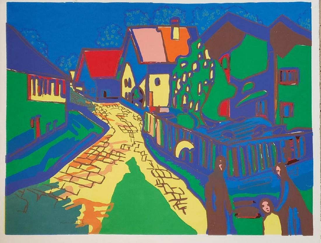 Wassily Kandinsky, After, City Street, Lithograph