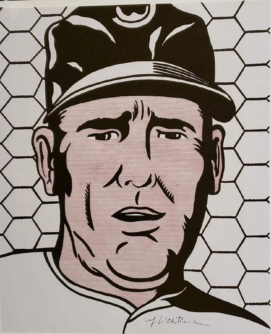 Roy Lichtenstein - Baseball Manager 1963, Hand signed o