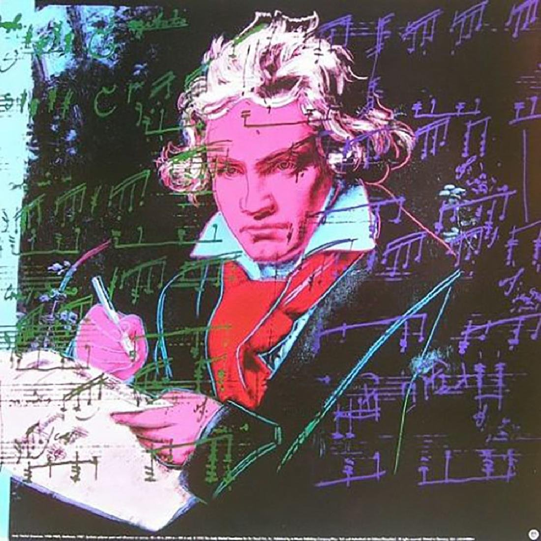 Andy Warhol-Beethoven--1992 offset lithograph & serigr