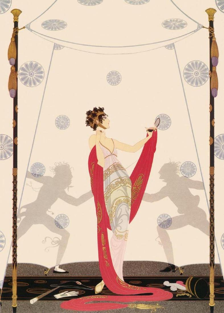 """Erte Signed """"The Duel"""" Limited Edition Serigraph"""