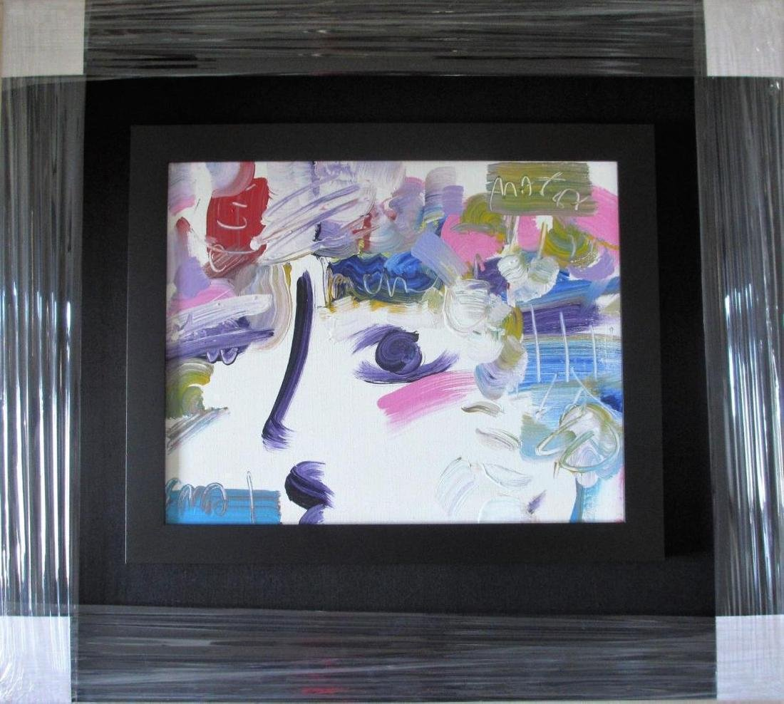 "Peter Max Framed ""Profiles"" Original Acrylic on Canvas"