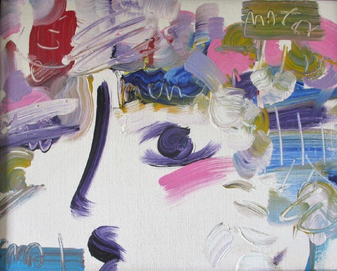 "Peter Max Framed ""Profiles"" Original Acrylic on Canvas - 2"