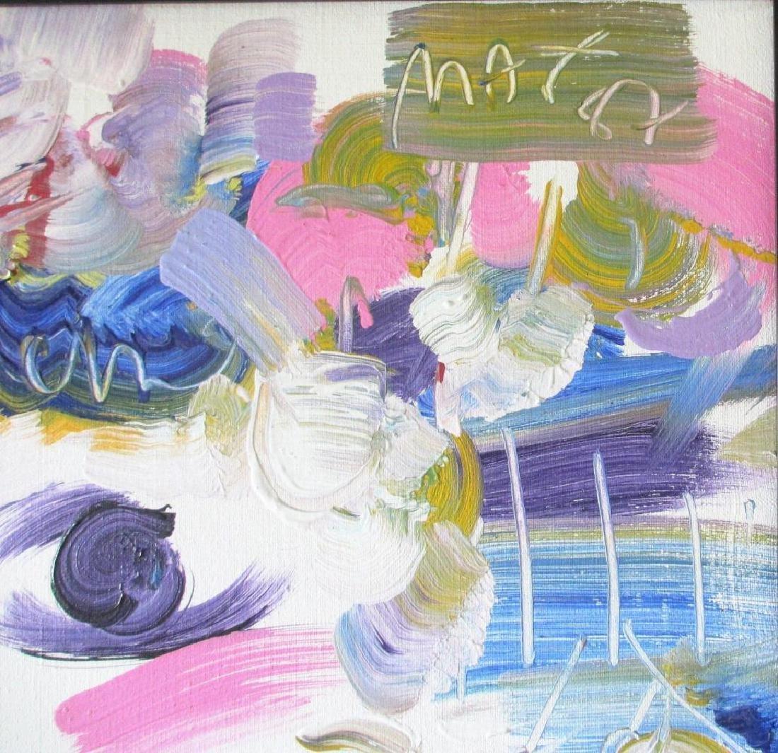 "Peter Max Framed ""Profiles"" Original Acrylic on Canvas - 3"