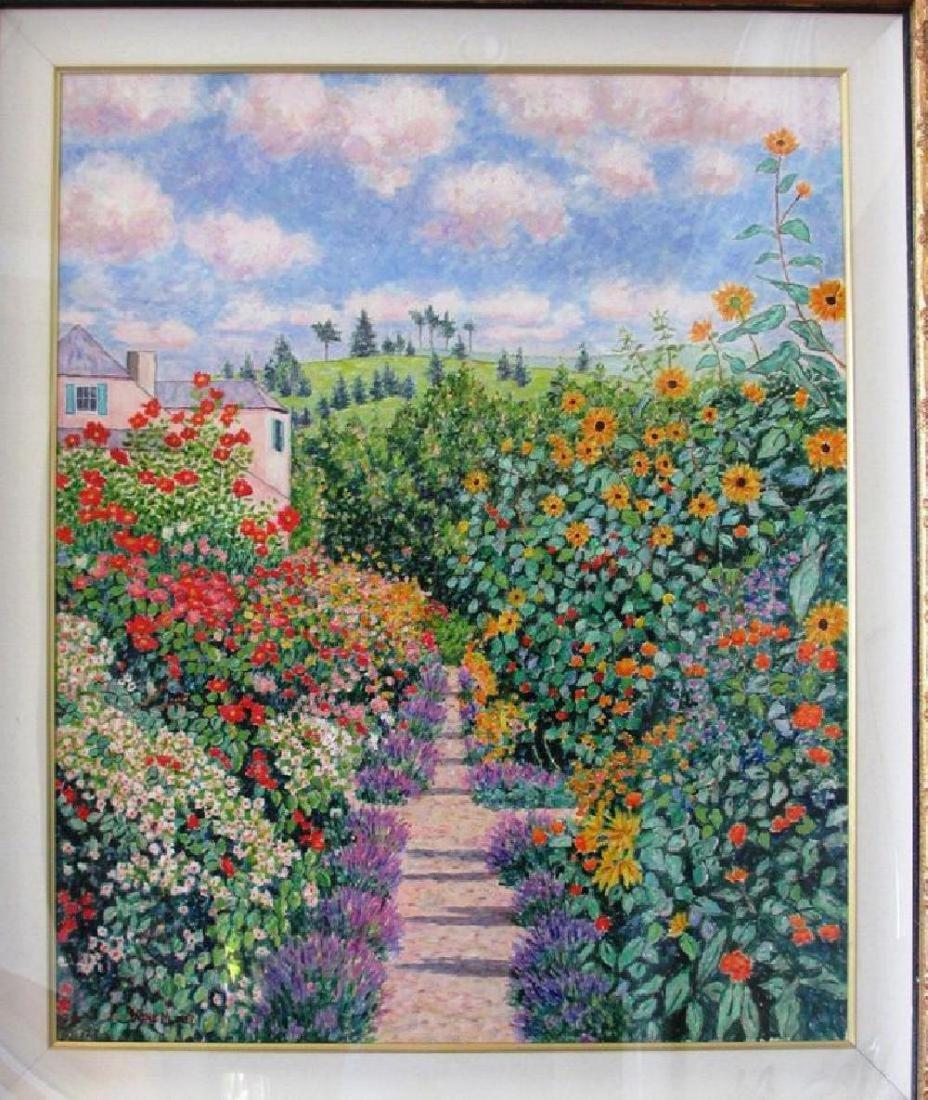 "Diane Monet ""Golden Days"" Original Oil Framed Matted"