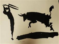 Pablo Picasso, Bullfight, Signed in print Lithograph on
