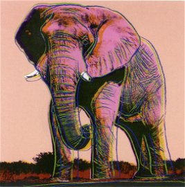 Warhol, Andy  AFRICAN ELEPHANT 1983  Silkscreen