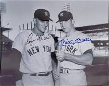 Mickey Mantle Roger Marris Autographed 8x10 photo