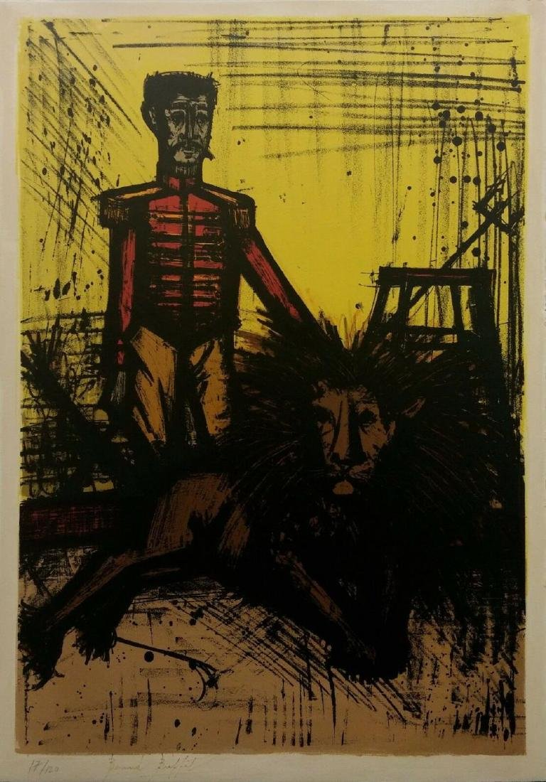 "BERNARD BUFFET ""THE LION TAMER (LE DOMPTEUR)"" 1968"