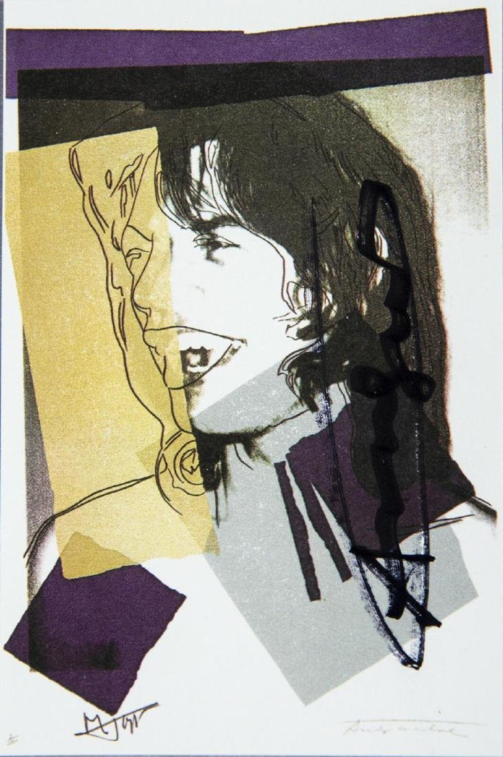 Andy Warhol Mick Jagger FS.II.142 Hand Signed Gallery