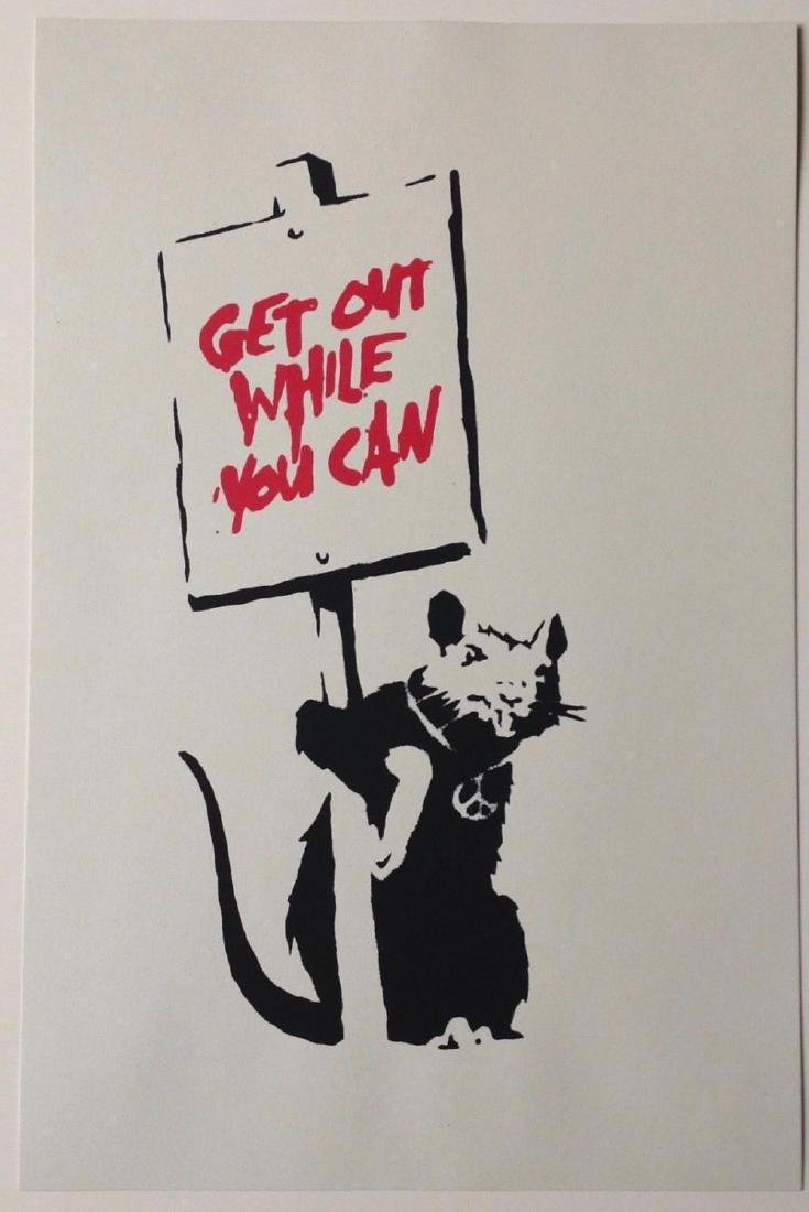 BANKSY - GET OUT WHILE YOU CAN SCREEN PRINT
