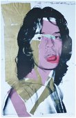 """ANDY WARHOL """" MICK JAGGER 1975 """" ROLLING STONES FRAMED"""