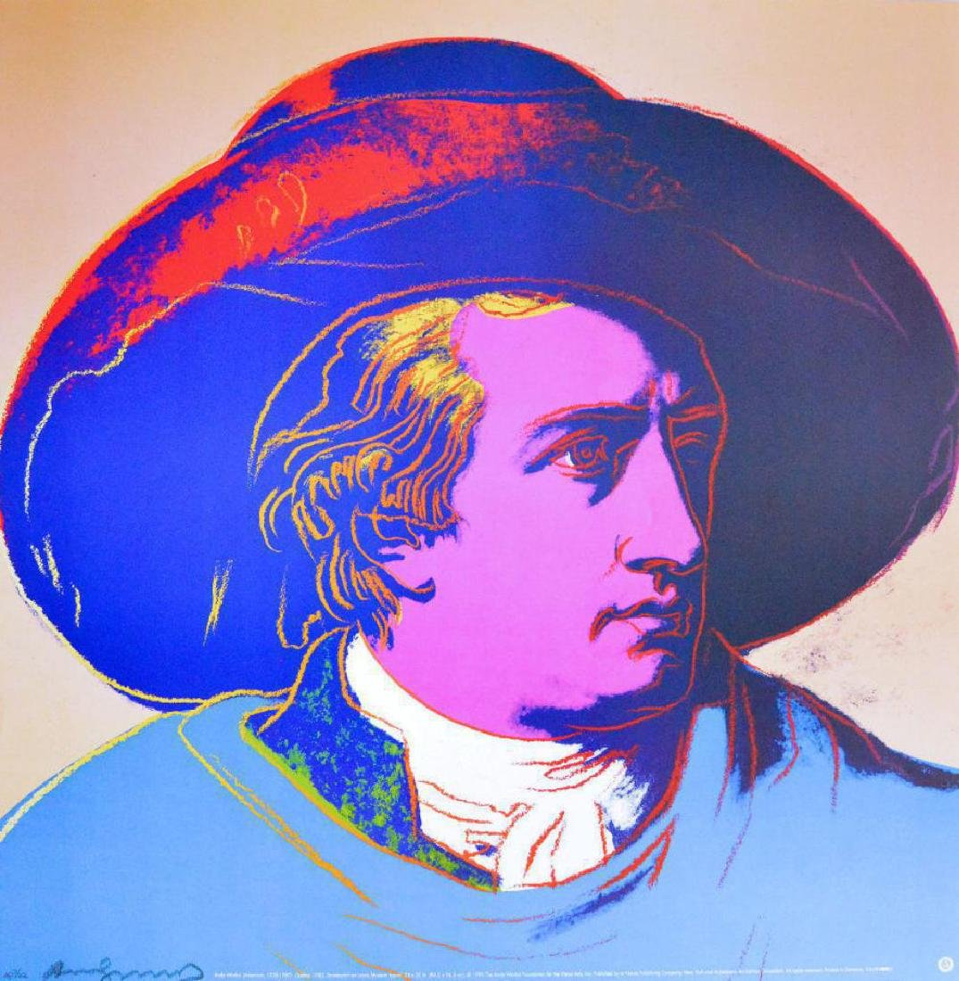 Andy Warhol Goethe 1990 offset lithograph signed in