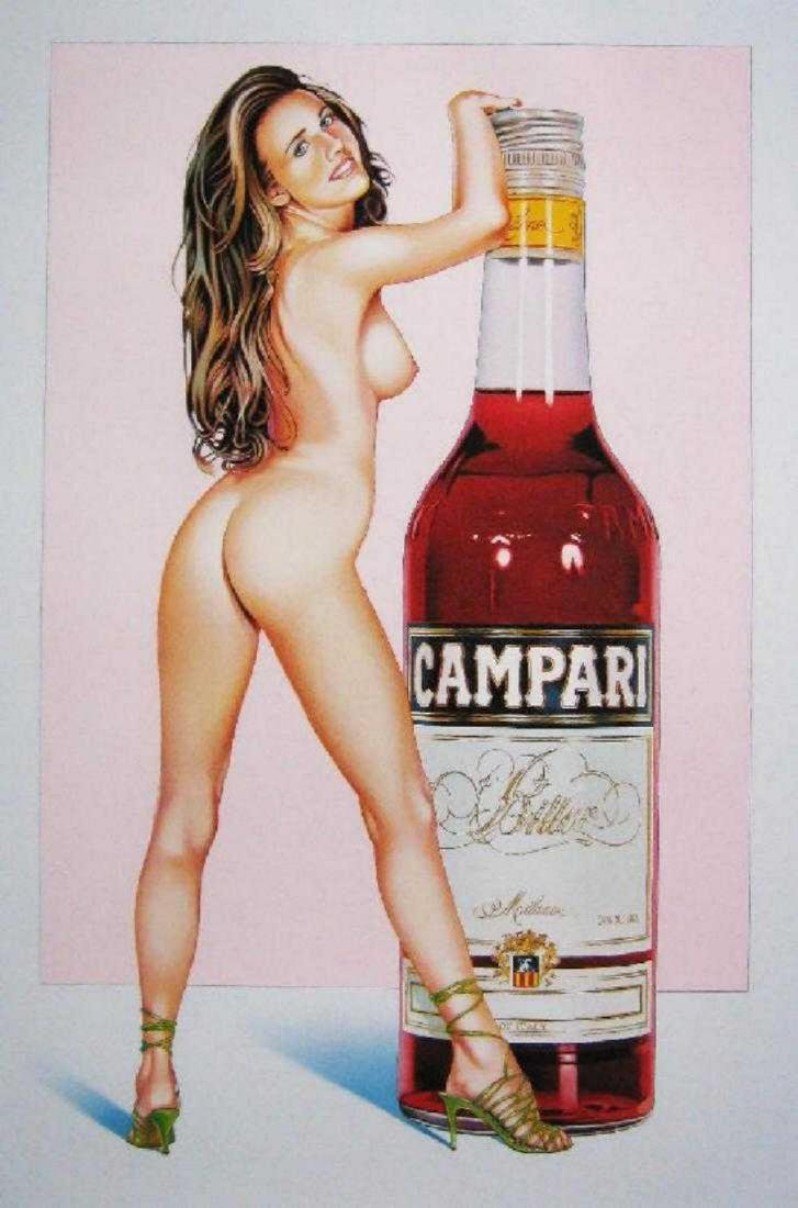 "Mel Ramos ""Campari"" Lithograph framed"
