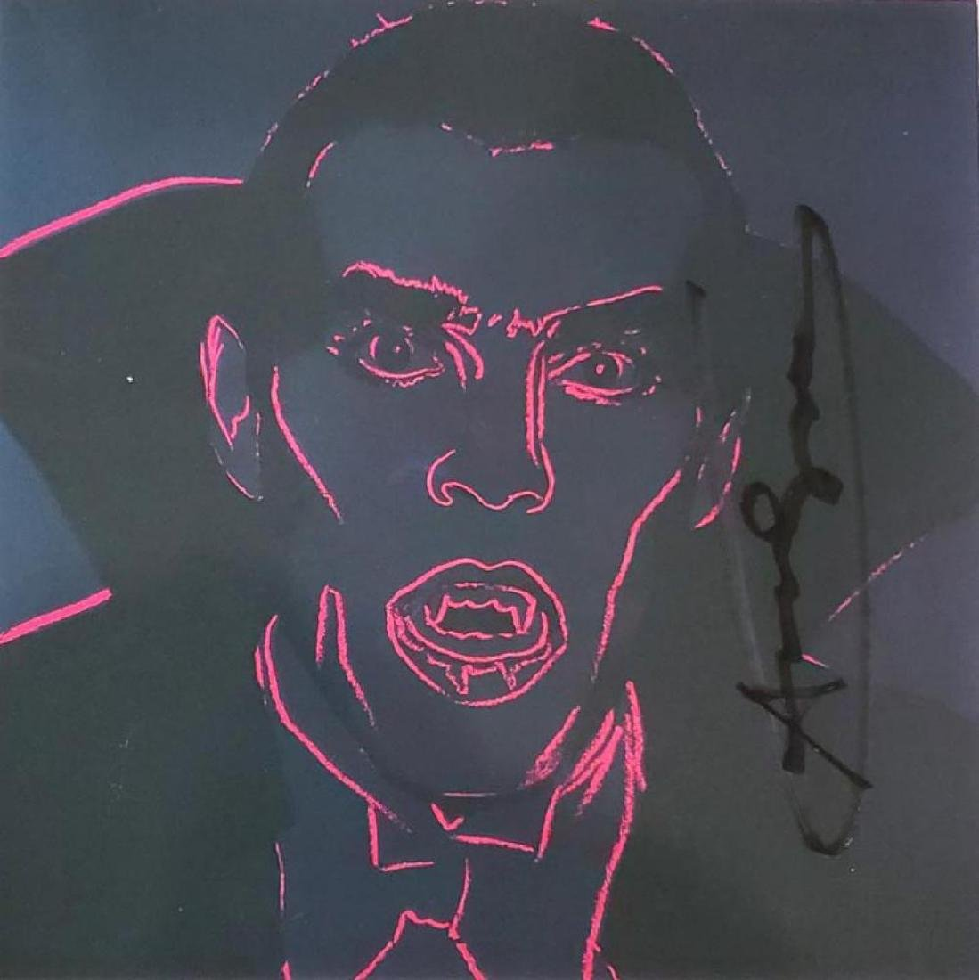 Andy Warhol Hand Signed Color Lithograph (Invitation)