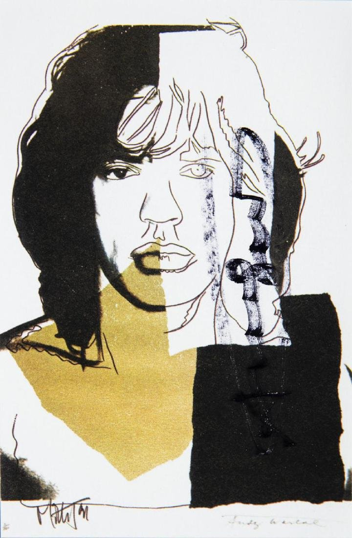 Andy Warhol Mick Jagger FS.II.146 Hand Signed Gallery