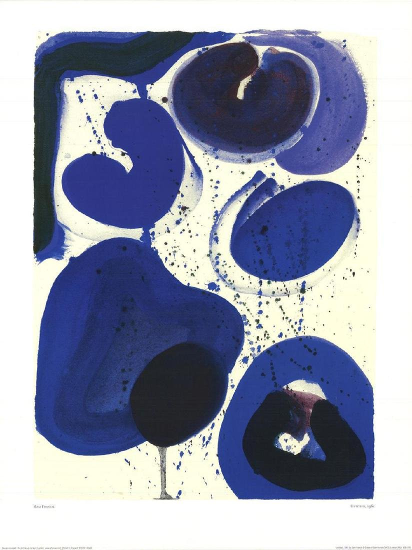 Sam Francis-Untitled offset lithograph