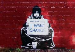 Banksy Keep Your Coins I Want Change offset lithograph