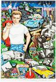 """Charles Fazzino """"Forever James Dean"""" Hand Signed Number"""