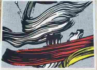 ROY LICHTENSTEIN, Brushstrokes 1967, signed and