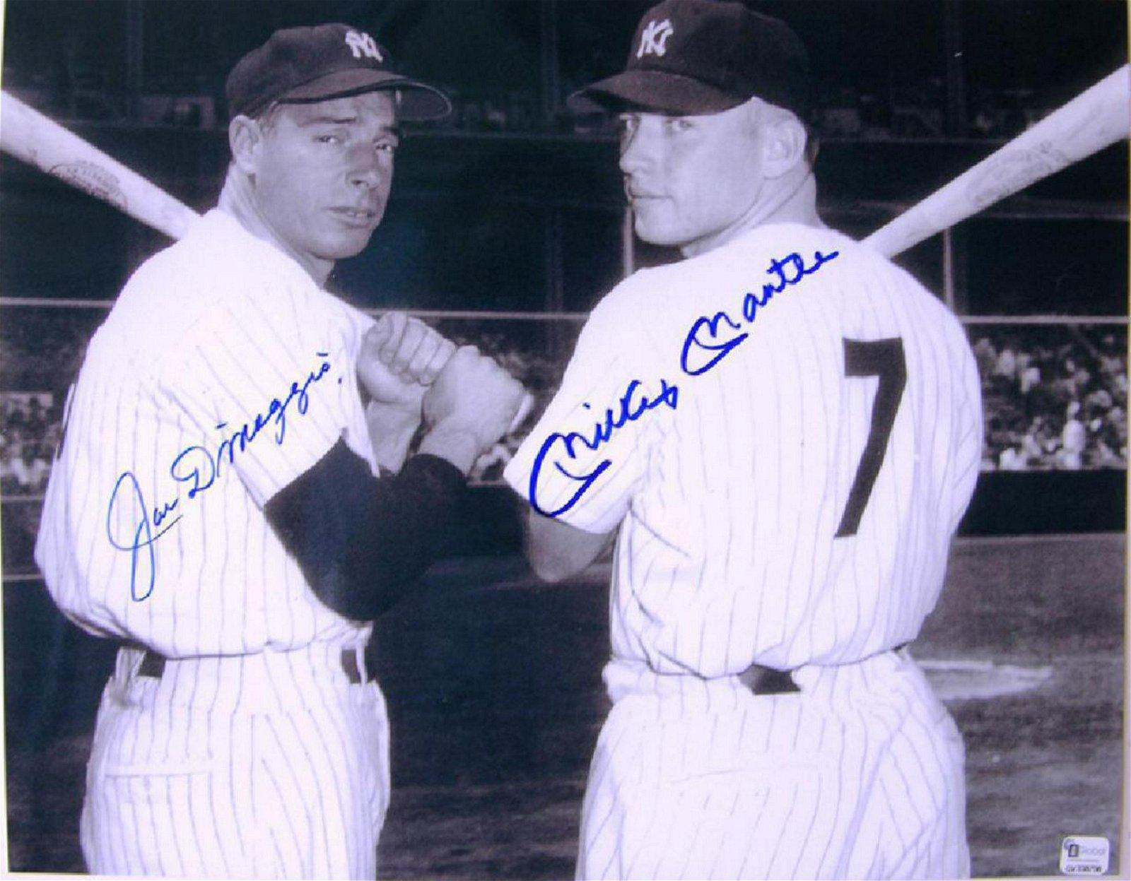"memorabilia ""Sluggers"" Joe DiMaggio & Mickey Mantle"