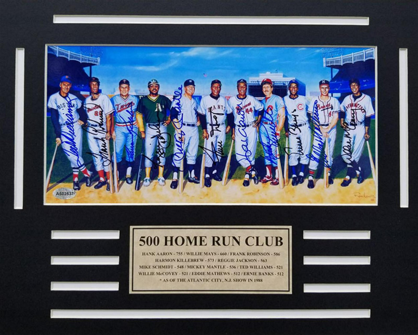 500 Home Run Club 11 signatures 8 x10 Hand Signed