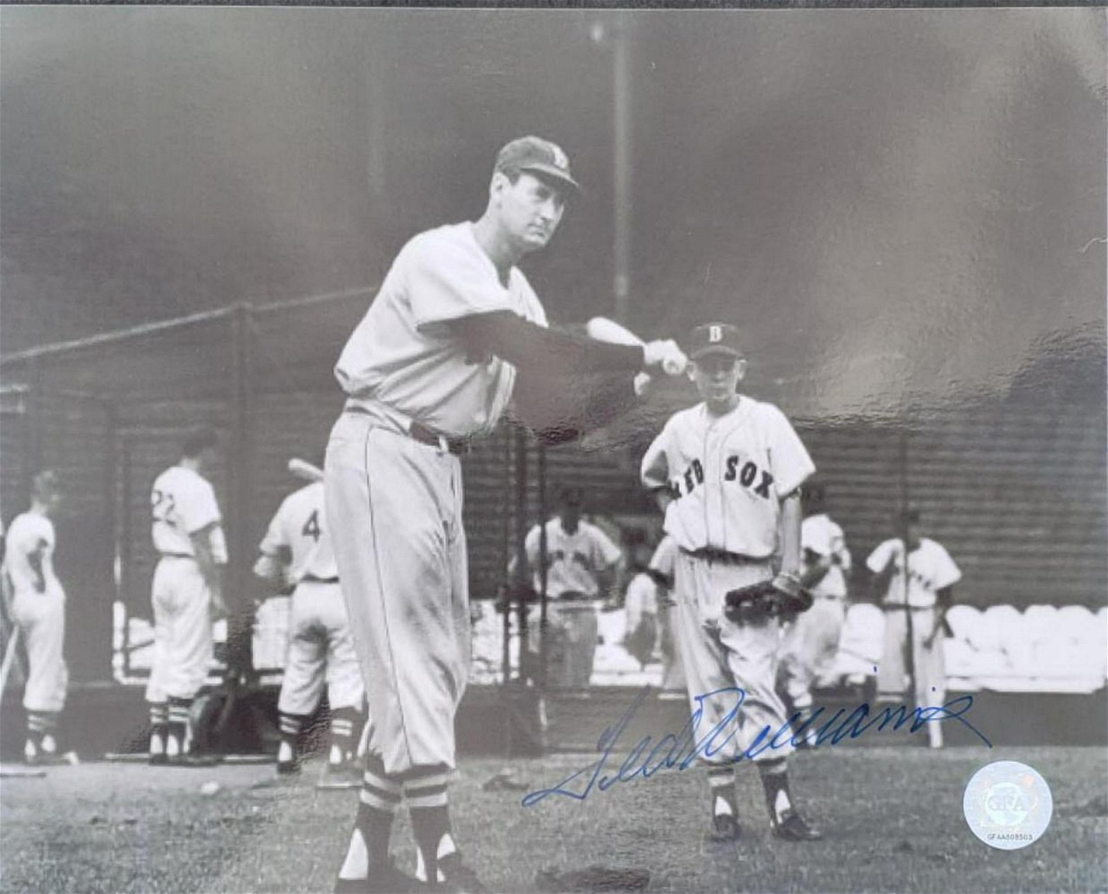 Ted Williams Autographed 8 x 10 Photo