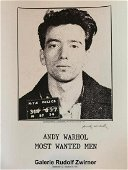 Andy Warhol, Most wanted men, Hand signed very rare