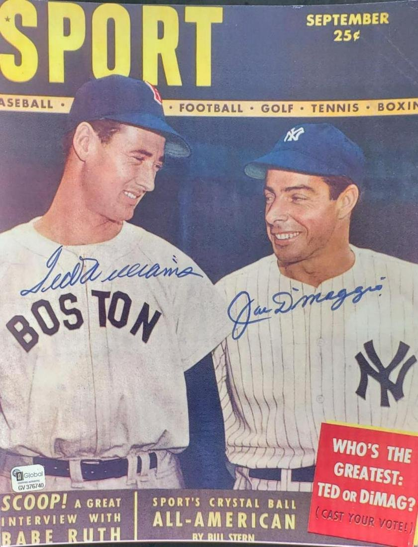 Joe DiMaggio, Ted Williams Autographed 8x10 photo
