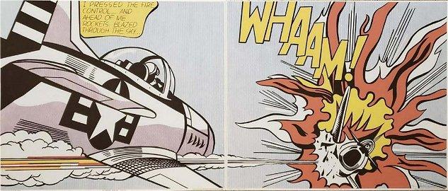 Roy Lichtenstein - Whaam - Original Silkscreen Hand Sig