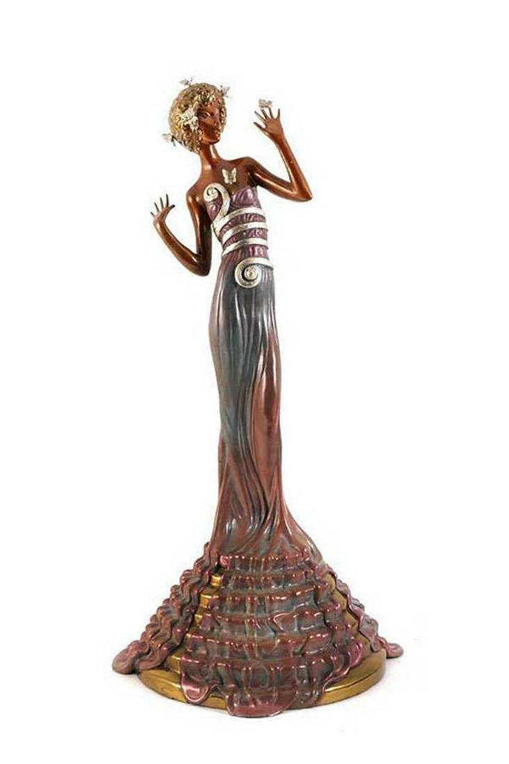 """Erte (Romain de Tirtoff) """"Fantasia Bronze Sculpture"""""""