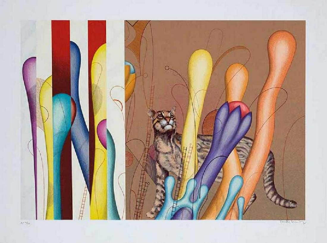 Yankel Ginzburg - Ocelot, hand-signed numbered