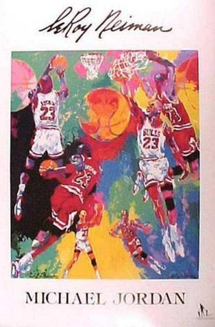 "Leroy Neiman ""Michael Jordan"" 1991 offset lithograph"