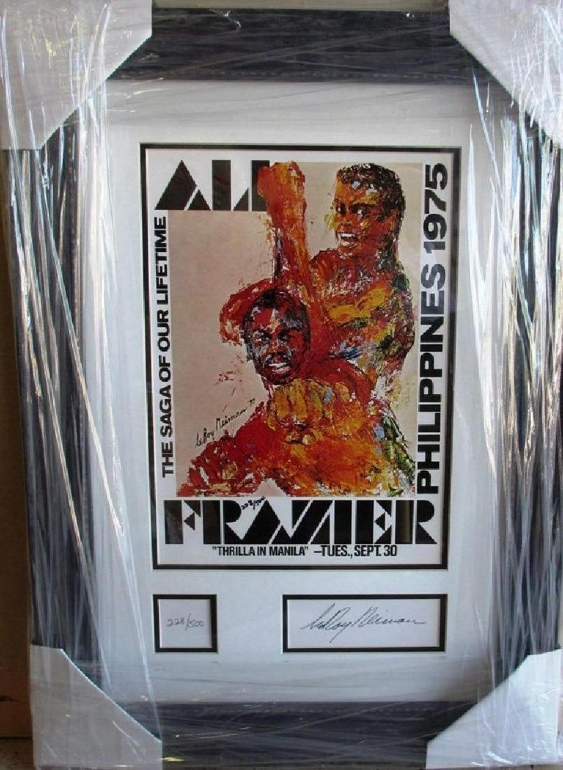 """Leroy Neiman """"Ali/Frazier"""" Thriller in Manilla Sign L/E"""