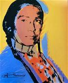 Andy Warhol, 'The American Indian 1976  Hand Signed Lit