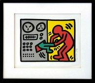 """KEITH HARING """"POP SHOP III (1)"""" 1989 SCREENPRINT"""