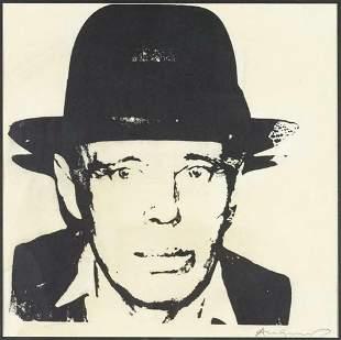 Andy Warhol, Joseph Beuys, self portrait 1980 serigraph