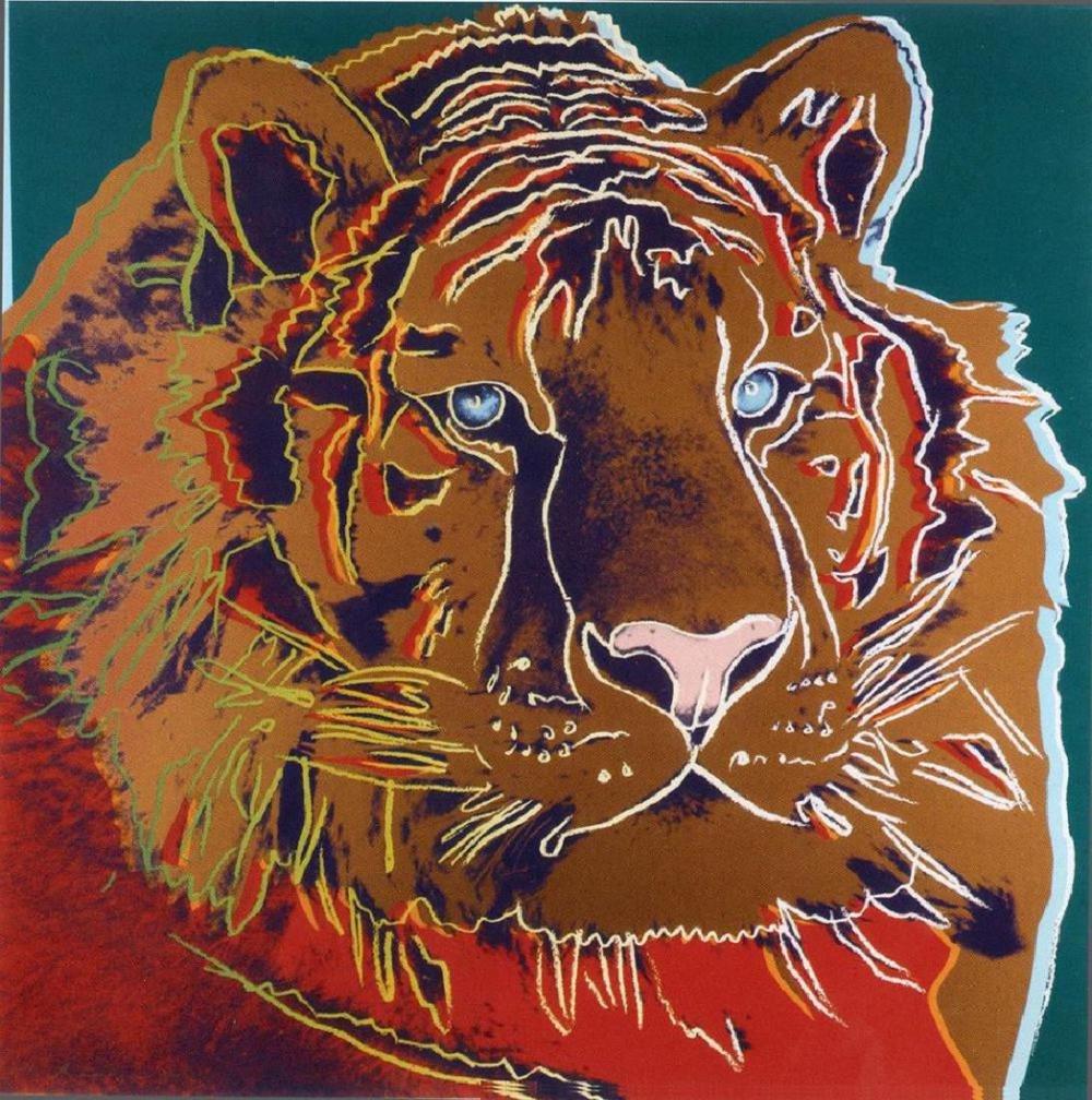 Andy Warhol, TIGER Endangered Species Silkscreen, 1983