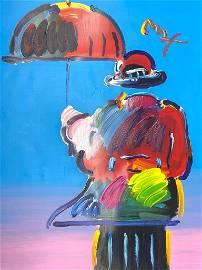 Peter Max, Umbrella Man 24x36 Acrylic
