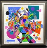 Isaac Maimon Tango Original Acrylic on Canvas FRAMED