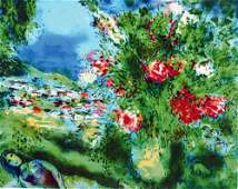 Marc Chagall Paysage Lithograph