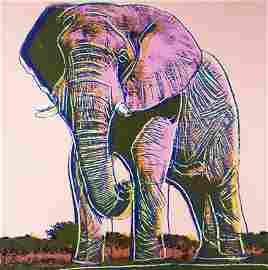 ANDY WARHOL | AFRICAN ELEPHANT Screenprint on Board