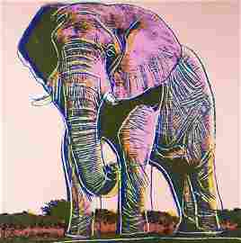 ANDY WARHOL   AFRICAN ELEPHANT Screenprint on Board