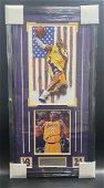 Kobe Bryant Framed Autograph Multi Matted Lakers COA