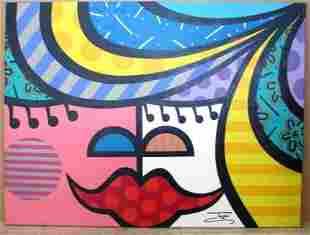 Jozza Faces V Original Acrylic on canvas