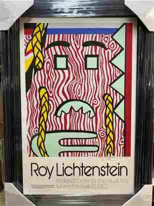Roy Lichtenstein Head with Braids Signed Offset Litho