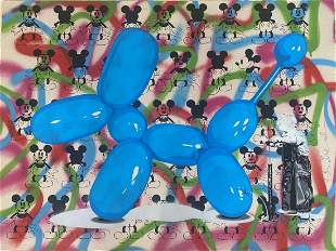 Mr. Brainwash Poppy Hand Signed Original Mix Media