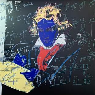 Andy Warhol Beethoven 390 Sunday B Morning LE Serigraph