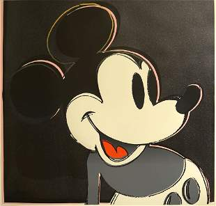 Andy Warhol Mickey Mouse Screenprint Myths Suite D.Dust