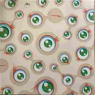 Takashi Murakami Jellyfish Eyes Cream L/E H/S Litho